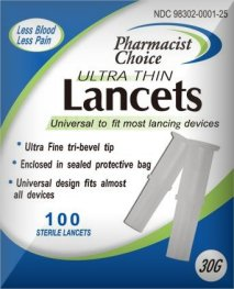 Pharmacist Choice Pull Top 30G Lancets