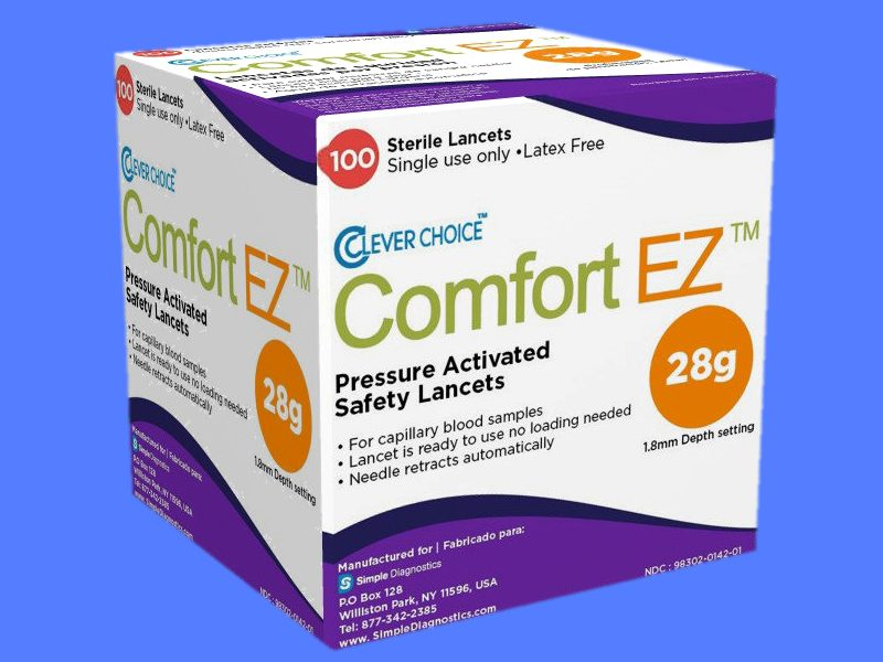 Clever Choice Comfort EZ Pressure Activated Safety Lancets