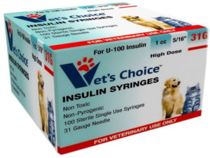 Vets Choice Insulin Syringes for Pets